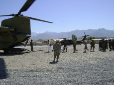 Off they go. They will arrive in a village with their guns and maybe some money, and then they will leave. They will do this for an entire deployment. Lagham Province, Afghanistan, 2009
